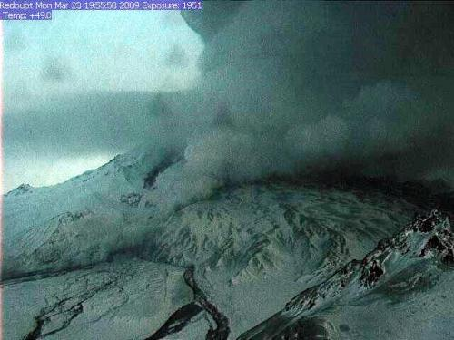 Webcam image from March 23, 2009. Courtesy AVO/USGS