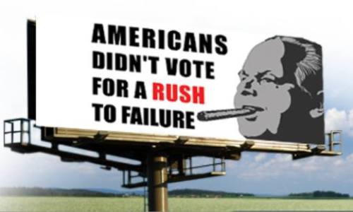 Winning billboard slogan to be placed in Rush Limbaugh's hometown.