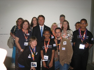 Me and the John Edwards' Internet Rapid Response Team, YearlyKos, August 2007, Chicago
