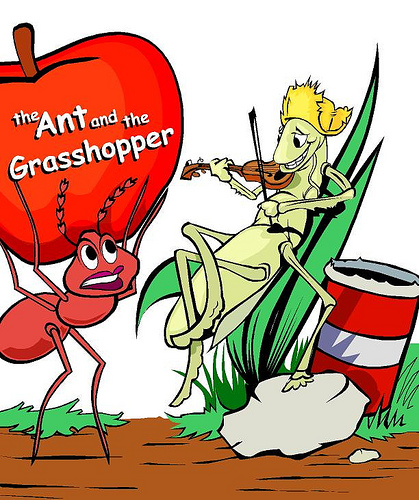 The Ant and the Grasshopper, TwoVersions
