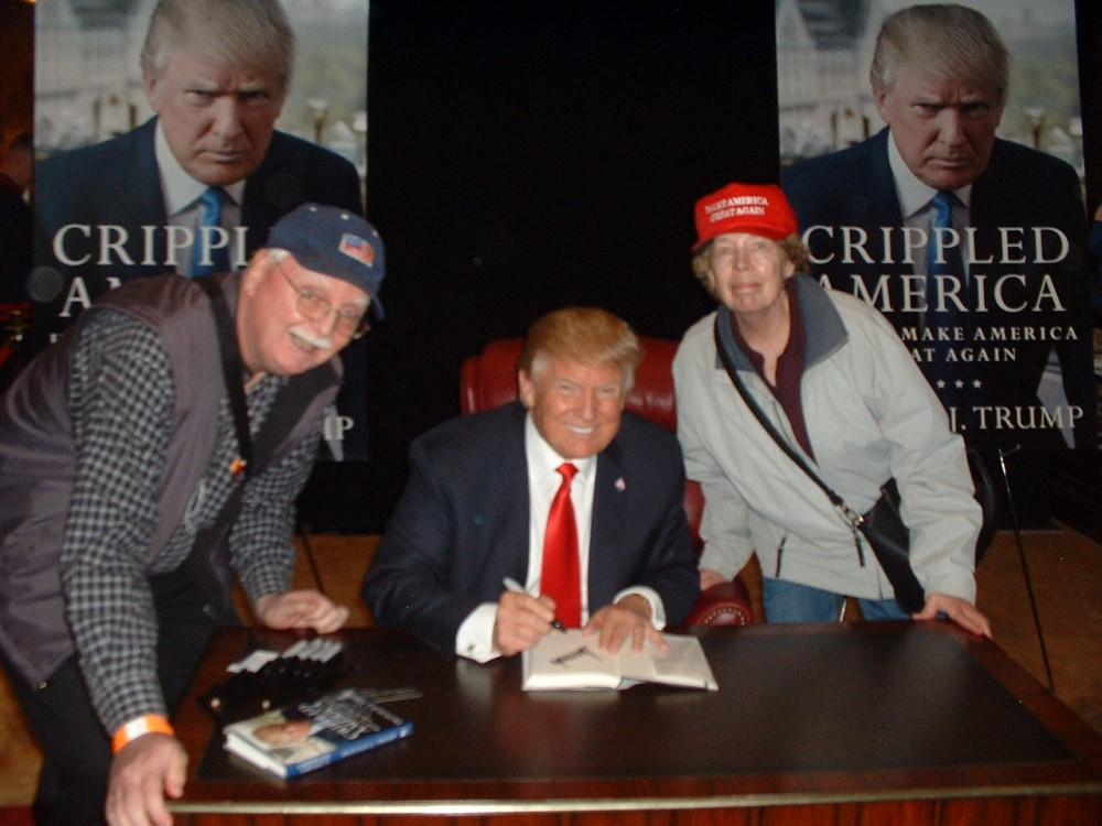 Trump Book Signing , So Thrilled and Jealous for my Friends Tom and Dora!